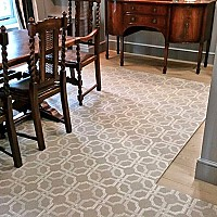 Bespoke Brussels Weave Wilton Rug. Templated to clients spec with hand stitched blind hemmed edge