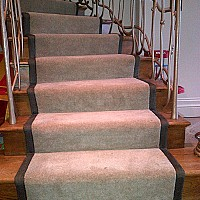 Jacaranda Kasari Velvet Stair Runner. Cotton tape border