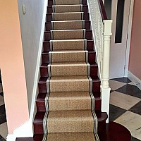 Alternative Flooring Sisal Herringbone Stair Runner.